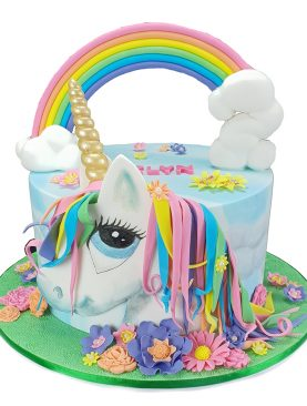 Tort unicorn curcubeu