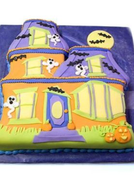 Tort Halloween castelul cu lilieci