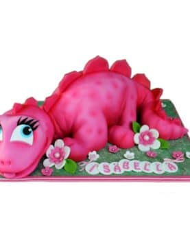 Tort dinozaur pentru fetite