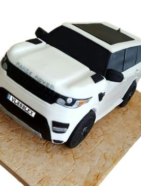 Tort masina suv Range Rover alb
