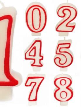 Lumanari cifre 0-9