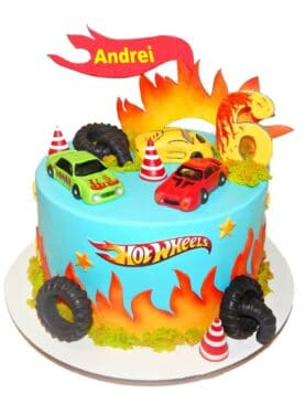 Tort cu masinute Hot Wheels