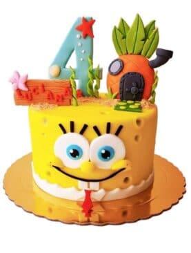 Tort cu Sponge Bob ananas